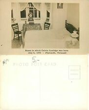 USA - Room in which C. Coolidge was born Plymouth, Vermont (S-L XX252)