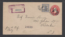 US Sc F1 on 1913 Registered Envelope to Hoboken, New Jersey VF