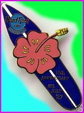 Hard Rock Cafe HONOLULU 1997 10th Anniversary PIN Surfboard with Hibiscus Flower