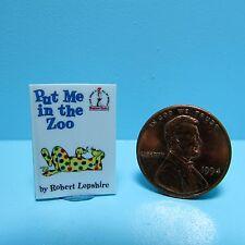 Dollhouse Miniature Replica of Book Dr Suess Put Me In The Zoo ~ B095