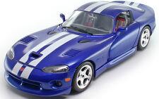 1:18  Bburago Blue and White Dodge Viper GTS Coupe Item 18-12041