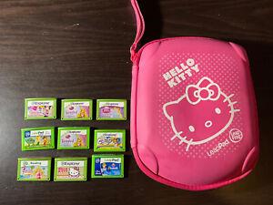 leapfrog explorer games w/ hello kitty leappad carrying case - 9 Games