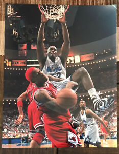 Shaquille O'Neal 11x14 Orlando Magic color photo - dunking on Dennis Rodman