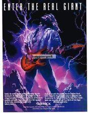 1993 Samick Guitars Vtg Print Ad