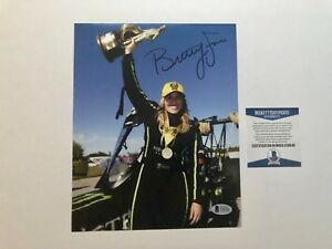 Brittany Force Hot! signed autographed NHRA racing 8x10 photo Beckett BAS coa