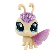 Rare Littlest Pet Shop LPS Yellow Glitter Butterfly Figue  Purple Head  Wing