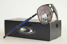 NEW! Oakley Plaintiff Sunglasses Moto GP Matte Black/Blue Grey 4057-09 BOX DENTS
