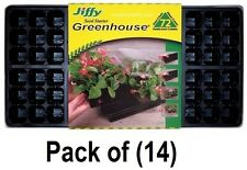 """(14) PACK JIFFY T72H 72 CELL GREENHOUSE PLANT SEED STARTER TRAY KIT 11""""X22"""""""