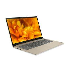 "Lenovo 15.6"" Ideapad 3 FHD Laptop AMD Ryzen 5 5500U 8GB 256GB SSD Sand New"