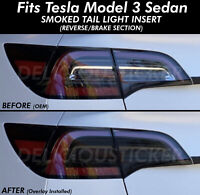 SMOKE Tail light Rear Overlay Vinyl Tint Decal Precut Fits Tesla Model 3 Smoked