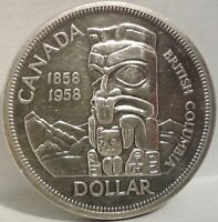1958 CANADA SILVER ONE DOLLAR Coin