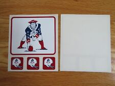 "(2) NEW ENGLAND PATRIOTS 3.5"" / 1"" Stickers Decals ""PAT The PATRIOT"""