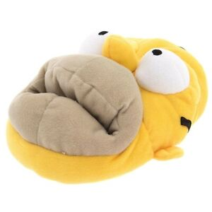 The Simpsons Mens Homer Simpson Yellow Plush Slippers Size 7-8
