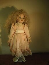 Vintage 1991 Seymour Mann Porcelain Connoisseur Collection Doll with Stand