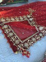 Red Bridal Lengha Skirt Size 4-8