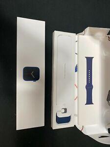 Apple Watch Series 6 (GPS, 44mm, Blue Aluminum, Deep Navy Sport Band) M00J3LL/A