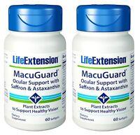 Life Extension MacuGuard Ocular Support W/Saffron &Astaxanthin 60 SGels - 2 Pack