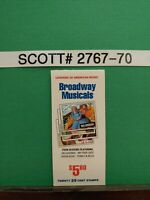 SCOTT # 2767-70 - BROADWAY MUSICALS - BOOKLET OF (20) 29 CENT STAMPS