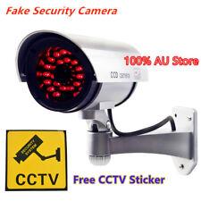 Wireless Fake CCTV Camera Dummy Dome Home Security  Surveillance Simulation LED
