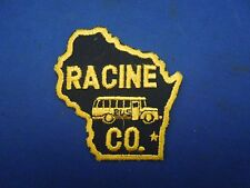 Vintage Racine Wisconsin Bus Company Advertising Embroidered Sew On Patch