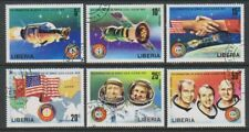 Liberia - 1975, Apollo Soyuz Space Link set - CTO - SG 1247/52 (g)