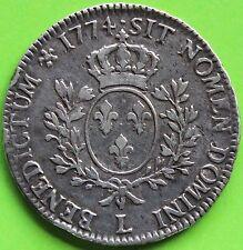 FRANCE LOUIS XV ECU A LA VIEILLE TETE  1774 L