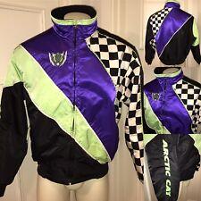 Vtg 80s 90s Arctic Cat Snowmobile Racing MENS XL Neon SKI Outer Jacket Snow Coat