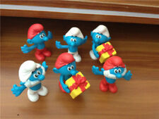 6pcs The Smurfs Cartoon Mini 2.5'' Figure Toy Cake Topper Xmas Gift Decoration