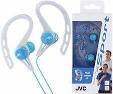 JVC HA-ECX20 BLUE Sports Splash-Proof In-Ear Ear-Clip Headphones / Brand New