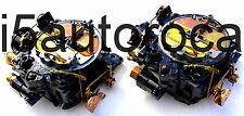 SET OF 2 MARINE CARBURETOR 4BBL ROCHESTER QUADRAJET 7.4L 454 MERC ELECRIC CHOKE