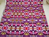 FreeSpirit Cotton Fabric Garden Dreams WAVE Shannon Newlin Pink Purple BTY