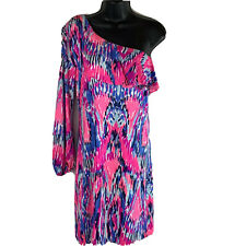Lily Pulitzer Amante Silk Jersey Dress One Shoulder Bodycon xs NWT $258