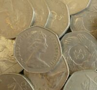 BULK OLD LARGE 50P COINS CHOOSE THE AMOUNT