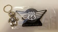 Route 66 Keychain and Magnet Set NEW