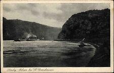 Sankt Goarshausen Oberes Mittelrheintal AK 1928 Loreley Felsen Rhein Schiffe