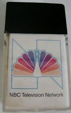 NBC Network Peacock Logo Magnetic Paperclip Holder Vintage 1980 Calendar Office