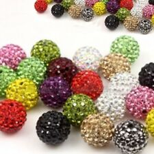 10X ROUND SHAMBALLA CRYSTAL PAVE CLAY DISCO BALL BEADS 6mm 8mm 10mm 12mm 14mm B3