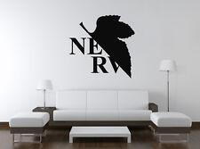 Wall Vinyl Sticker Decal Anime Manga NGE Neon Genesis Evangelion Nerv Logo VY352