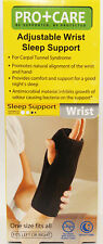 PRO CARE ADJUSTABLE WRIST SLEEP SUPPORT LEFT OR RIGHT HAND ONE SIZE FITS ALL