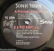 "Sonic Youth - Personality Crisis 1990 USA Geffen Promotional 7"" Single"