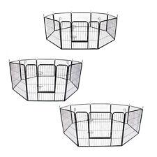 "31"" / 32"" / 40"" 8 Panel Pet Playpen Portable Exercise Cage Fence Enclosure Dog"