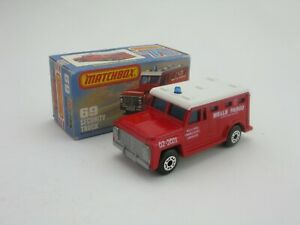 Matchbox Superfast 69 Armoured Security Truck Wells Fargo Red L Box Without New