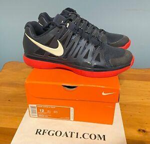 Nike Zoom Vapor 9 Tour 2012 US Open Navy Red Roger Federer RF Size 12