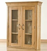 Toulon solid oak furniture small dining room china display cabinet dresser