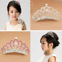 EG_ Wedding Prom Baby Girl Kid Tiny Rhinestone Crown Hair Comb Sweet Tiara Hot S