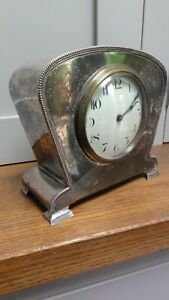 Vintage Silver Plated Henry Wilkinson Case - Buren Swiss mechanism