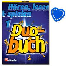 Hören, lesen & spielen - Duobuch 1 für Klarinette -  DHP1013008 - 9789043115001
