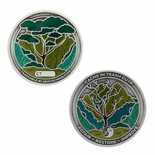 2021 CITO Geocoin & Tag Set - Silver Official Geocaching Trackable