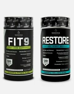 Kit Sascha Fitness FIT9 & RESTORE Weight Loss Support Day And Night Combo Pack