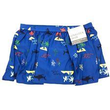 NWT Hanna Andersson Swim Skirt Sunblock BLUE Tropical Size 8 / 130cm
